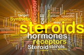 Steroids hormones background concept glowing — Stock Photo