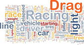Drag racing concept diagram — Stock Photo