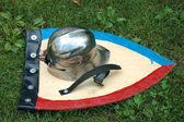 Helmet and shield — Stockfoto