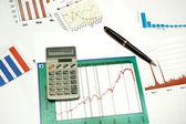Graphs and statistics — Stock Photo