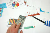 Graphs and statistics — Stock Photo