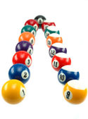 Billiard balls — Stock Photo