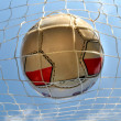 Soccerball in net — Stock Photo #4650994