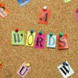 Words and letters — Stock Photo