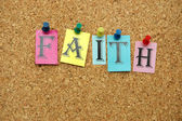 Faith on board — Stock Photo