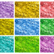 Colored tin foil textures — Stock Photo