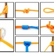 Knots collage - Stock Photo