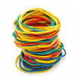 Foto Stock: Colored elastic bands