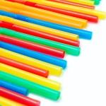 Colored straws — Stock Photo