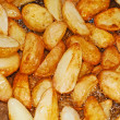 Potatoes in oil — Stock Photo