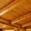 Stock Photo: Wooden roof structure