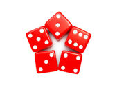Dice star — Stock Photo