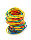 Colored elastic bands — Stock Photo