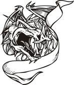 Modèle dragon. — Vecteur