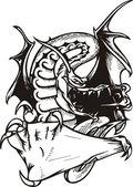 Dragon Template. — Stock Vector