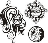 Zodiaco de fantasía. — Vector de stock