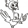 Cool bird.Chicken . — Vettoriale Stock #4198112
