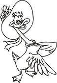 Duck hat. — Stock Vector