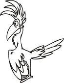 Cool bird. — Stock Vector