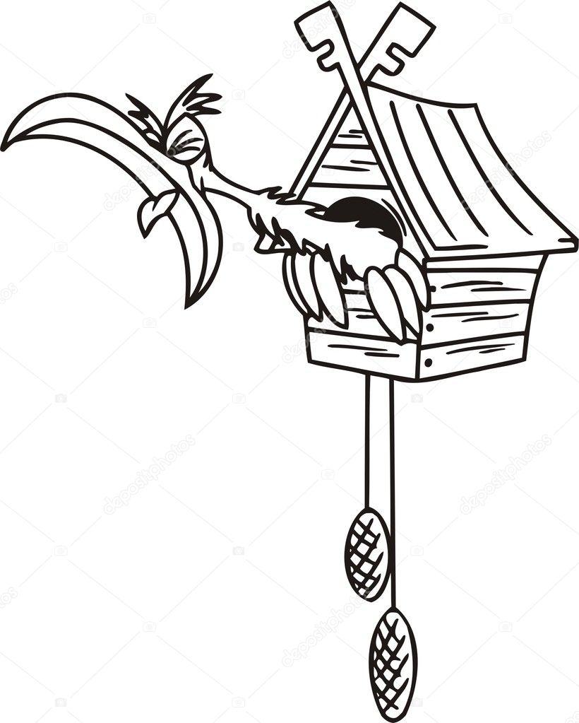 cuckoo in the clock stock vector 169 digital clipart 4198177