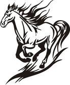 Schönes pferd. — Stockvektor
