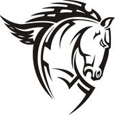 Lindo cavalo. — Vetorial Stock
