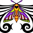 Tribal butterfly tattoo. — Vector de stock #4492305