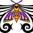 Tribal butterfly tattoo. — Stock Vector #4492305