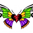 Tribal butterfly tattoo. - Stock Vector