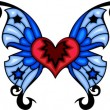 Tribal butterfly tattoo. — Vector de stock #4492308