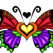 Stock vektor: Tribal butterfly tattoo.