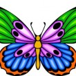 Tribal butterfly tattoo. — Vector de stock #4492319