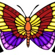 Tribal butterfly tattoo. — Vector de stock #4492339
