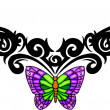 Tribal butterfly tattoo. — Stockvector #4492349