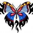 Tribal butterfly tattoo. — Vector de stock #4492376