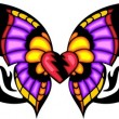 Tribal butterfly tattoo. — Vector de stock #4492437