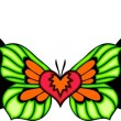 Tribal butterfly tattoo. — Vector de stock #4492450