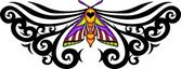 Tribal butterfly tattoo. — Vector de stock