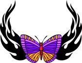 Tribal butterfly tattoo. — Stock vektor