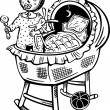 Baby in cradle.Children. — Vector de stock #4691871