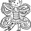 Girl Fairy.Children. — Vector de stock #4692245