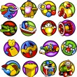 Children's toys - Vector set 3. — Stock Vector