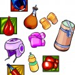 Boxing equipment - vector set. — Stock Vector