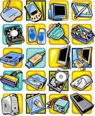 Computer equipment - vector set. — Vector de stock