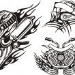 Tribal bikes. — Stockvector #4894443