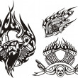 Tribal bikes. — Vector de stock #4894459
