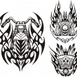 Royalty-Free Stock Vector Image: Tribal bikes.