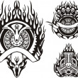 Tribal bikes. — Stockvector #4894509
