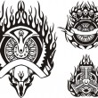 Tribal bikes. - Image vectorielle
