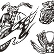 Tribal bikes. — Vector de stock #4894526